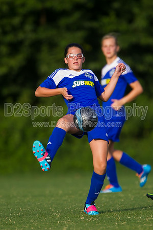02 NCUSA ORANGE G vs TWIN CITY 02 LADY TWINS BLUE - U12 Girls - 8/16/2014