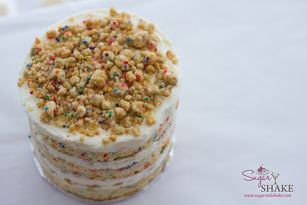The most sprinkle-tastic birthday cake you will ever meet. © 2013 Sugar + Shake