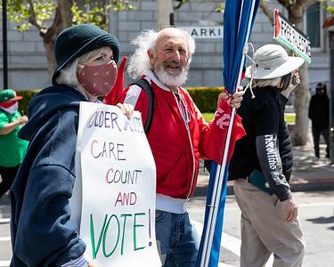 01 May 2021, San Francisco:  May Day Parade and Rally