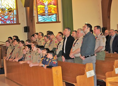 Boy Scouts Show Reverence