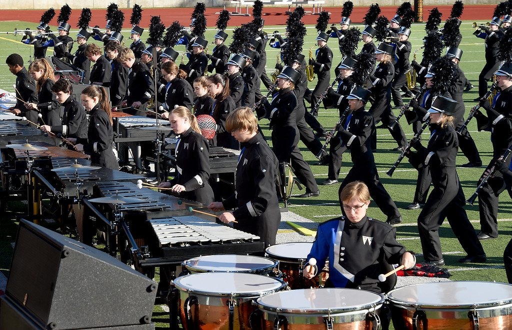 . Walton High School Marching Raider Band from Marietta, GA performing at Bandfest Monday, December 29, 2014.  These feature bands selected to participate in the 2015 Rose Parade. Over the course of two days, each band, along with its auxiliary performers, will present the field show that has led to its success. Three Bandfest events will take place at Pasadena City College on December 29 and 30, 2014..(Photo by Walt Mancini/Pasadena Star-News)