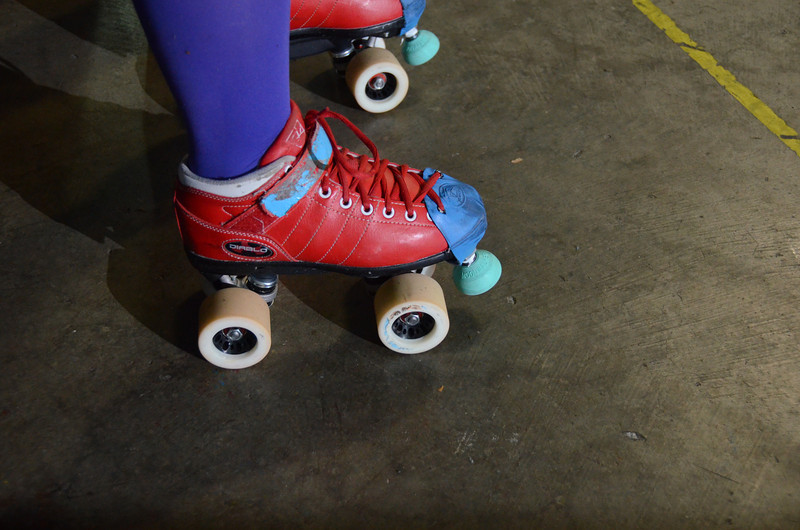 1023 round  Round wheels of the Rose City Rollers/