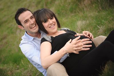 Sesión prenatal con Adria, David y Martina