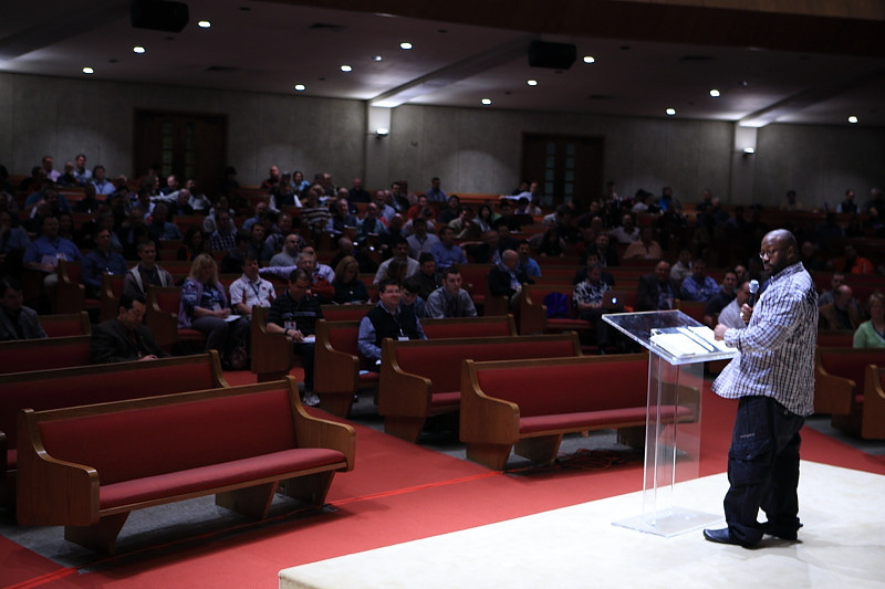 "ERIC MASON, ""The Role of Suffereing in Sanctificatin"" speaks during the 25th Annual Pastors' Conference at First Baptist Church, Jacksonville, FL"