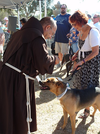 10-01-16 Blessing of the Animals - Father Anthony line