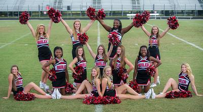 2014 BHS JV Football Cheerleaders Team Photos