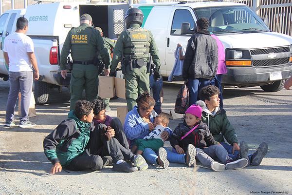 """""""Tent City"""" January 2019, at San Diego / Tijuana border"""