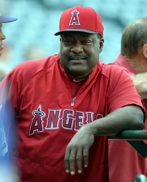 . Los Angeles Angels batting coach Don Baylor prior to a baseball game against the Los Angeles Dodgers at Anaheim Stadium in Anaheim, Calif., on Thursday, Aug. 7, 2014.  (Photo by Keith Birmingham/ Pasadena Star-News)