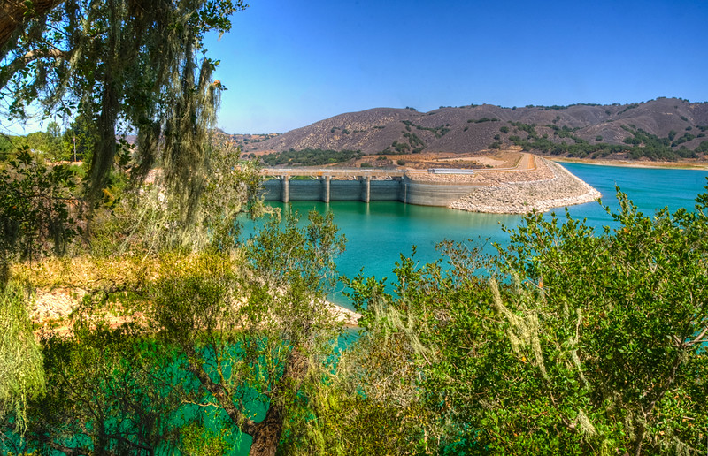 The Bradbury Dam at Lake Cachuma in Santa Barbara County.