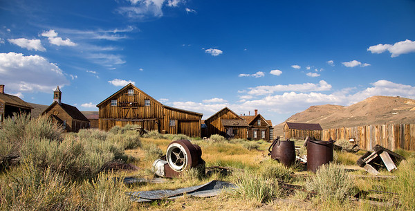 The Ghost Town at Bodie, California.