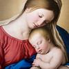 The Sleeping Christ Child by II Sassoferrato or Giovanni Battista Salvi, oil on canvas.  The Louvre Museum, Paris, France.