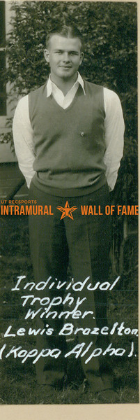 Individual Trophy Winner  Kappa Alpha  Lewis Brazelton