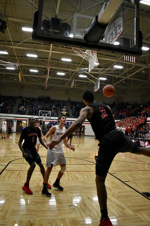 . DeAndre\' Patrick - The News-Herald Action from the Cornerstone Christian-Rittman Division IV regional semifinal March 13 in Canton.