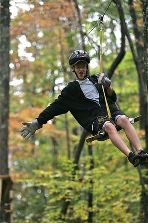 2009 9.15 Spencer Riding the ZipLine