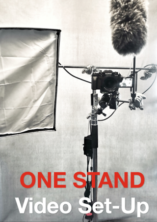 Easy One Stand Video Recording Set Up with Light, Camera, Microphone