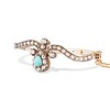 2.65ctw Victorian Turquoise and Rose Cut Diamond Tiara Bangle 1