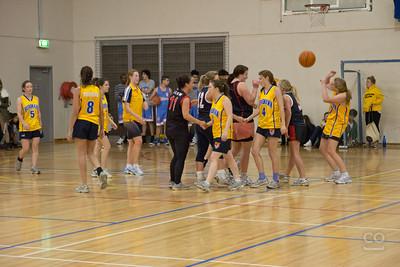 Burgmann College versus Burton and Garran Hall in Basketball