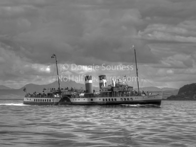 'doon the water' Built 1946, PS Waverley is the last seagoing passenger carrying paddle steamer in the world.