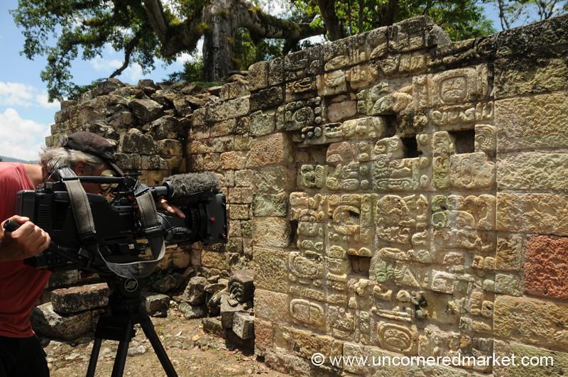 Film Crew - Copan Ruinas, Honduras