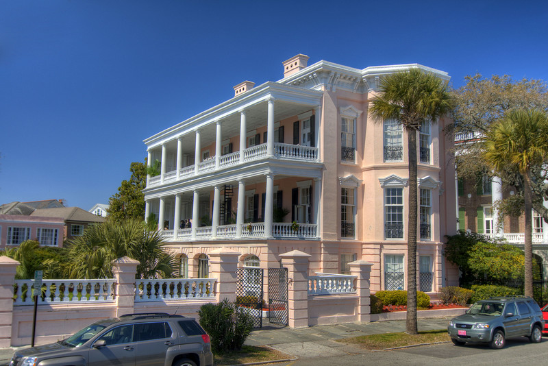 This home located at 5 East Battery Street was built for John Ravenel around 1848 along Rainbow Row in downtown Charleston, SC on Saturday, March 9, 2013. Copyright 2013 Jason Barnette