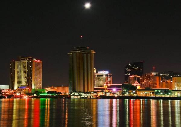 New Orleans Waterfront at Night