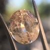 9.44ct Oval Peach Sapphire, with GIA No-Heat 25