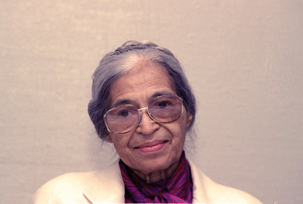 . Rosa Parks is seen Oct. 26, 1990 in New York. (AP Photo/Marty Lederhandler)