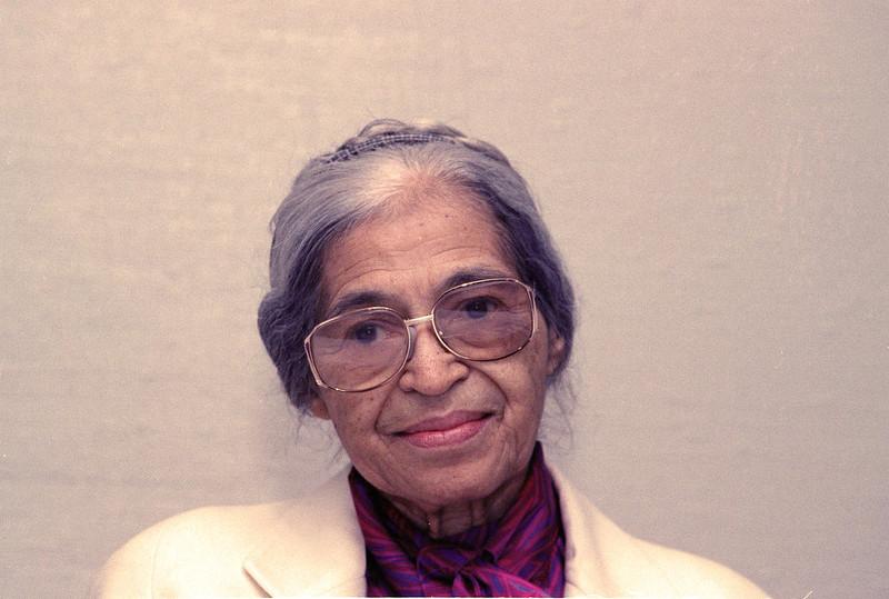 . Rosa Parks is seen Oct. 26, 1990 in New York. (AP Photo/Marty Lederhandler)