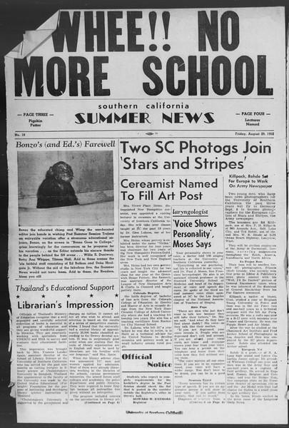 Summer News, Vol. 7, No. 18, August 29, 1952