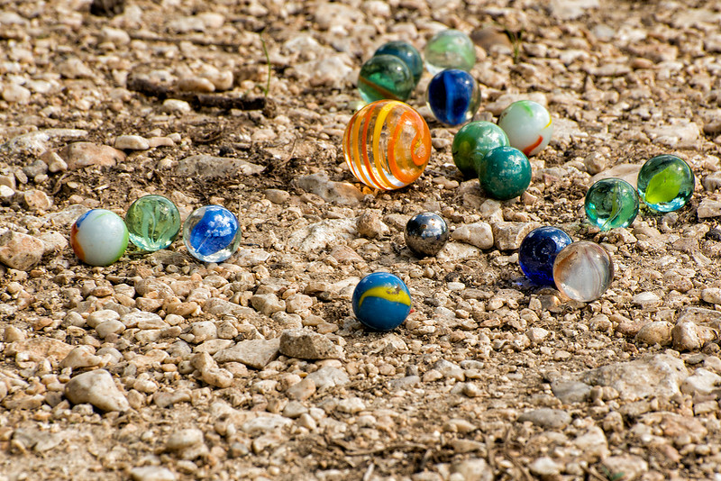 Marbles found at picnic site