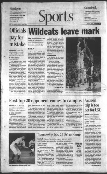 Daily Trojan, Vol. 142, No. 28, February 21, 2001