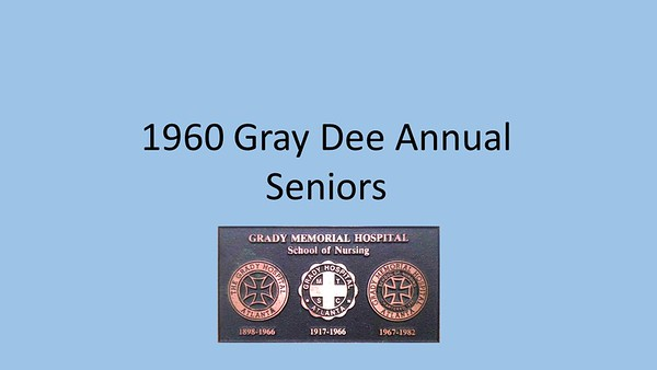 1960 Gray Dee Yearbook