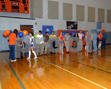 Marshall County High School Volleyball Senior Night Activities September 29, 2009.