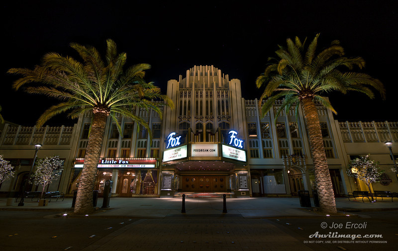 The Fox Theatre in downtown Redwood City, CA, shown in HDR.