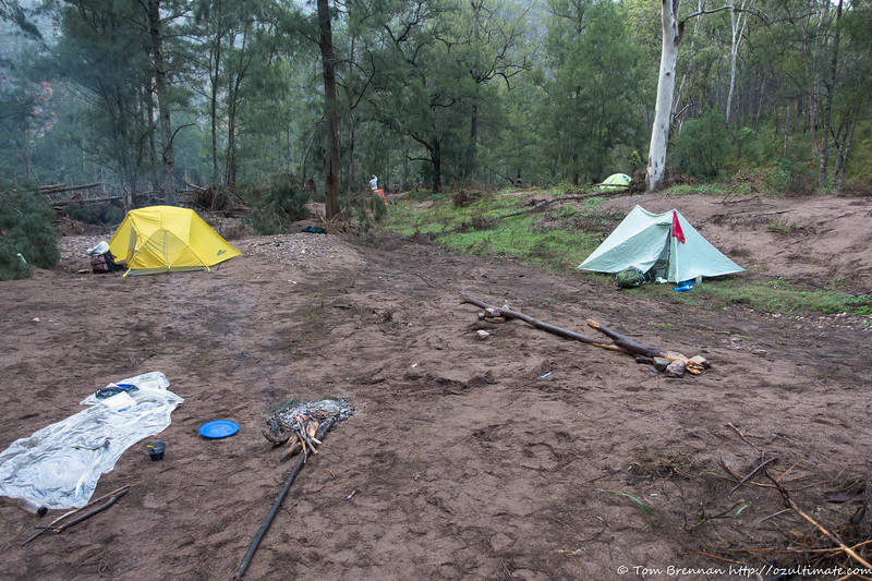 The Orange Bluff campsite is currrently on sand after the March floods