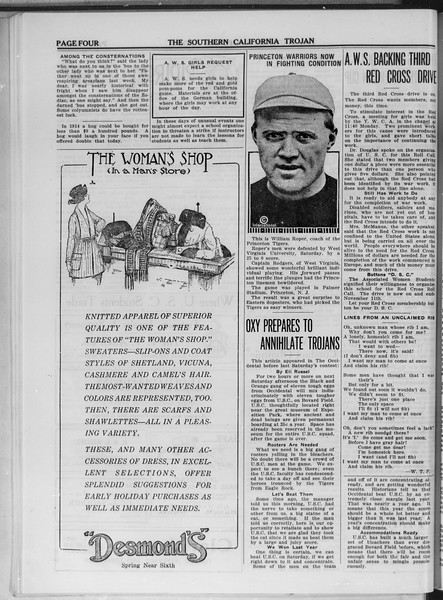 The Southern California Trojan, Vol. 11, No. 15, November 05, 1919