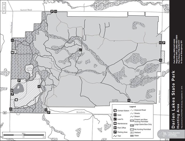Darien Lakes State Park (Hunting Map)