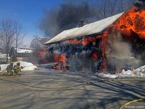 Barn Fire FFD 2/27/14