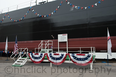 Northland Services barge, Polar Trader, launched at Gunderson Marine in Portland, Oregon