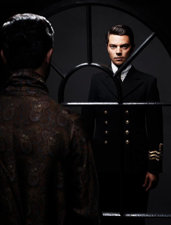 . Dominic Cooper as Ian Fleming. (Photo by Matt Holyoak)