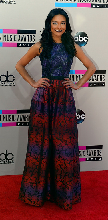 . Rachel Smith arrives to the American Music Awards  at the Nokia Theatre in Los Angeles, California on Sunday November 24, 2013 (Photo by Andy Holzman / Los Angeles Daily News)