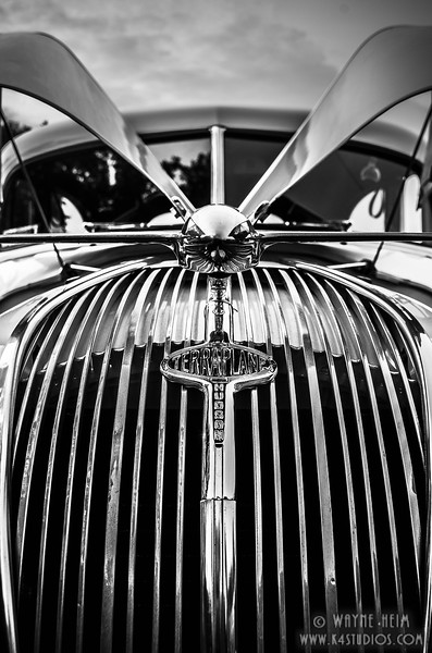 Close up of Terraplane   Black and White Photography by Wayne Heim