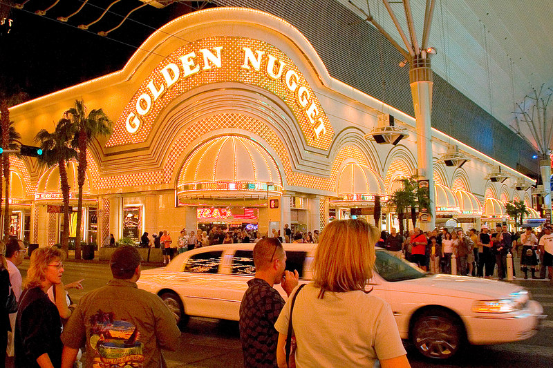 The famous Golden Nugget hotel and casino on Fremont St.