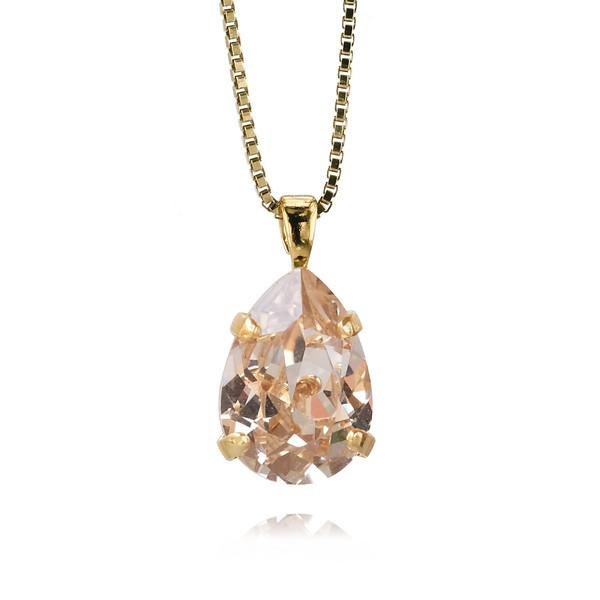 Mini Drop Necklace / Silk / Guld