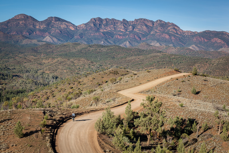 Riding Bunyeroo Rd : Flinders Ranges : SA