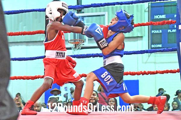 Bout #7: Maximus Ruiz, Blue Gloves vs D. Cox, Red Gloves, 1 min. rds.