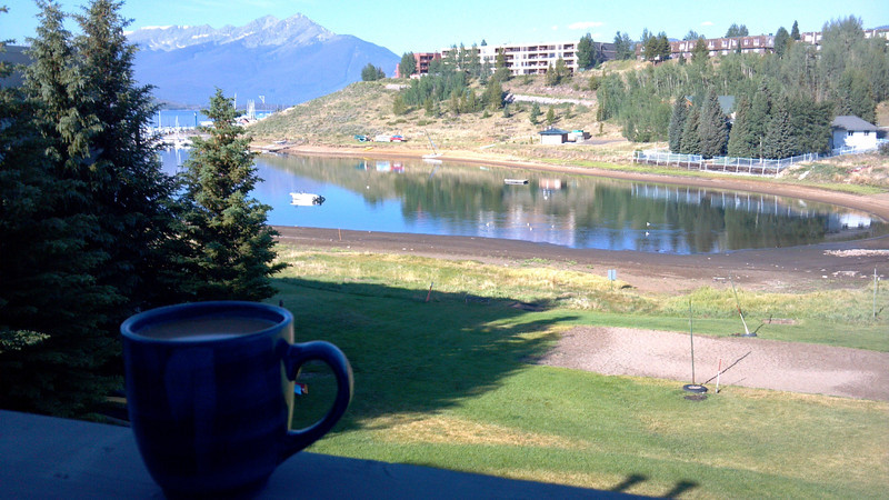I already miss my morning coffee view.