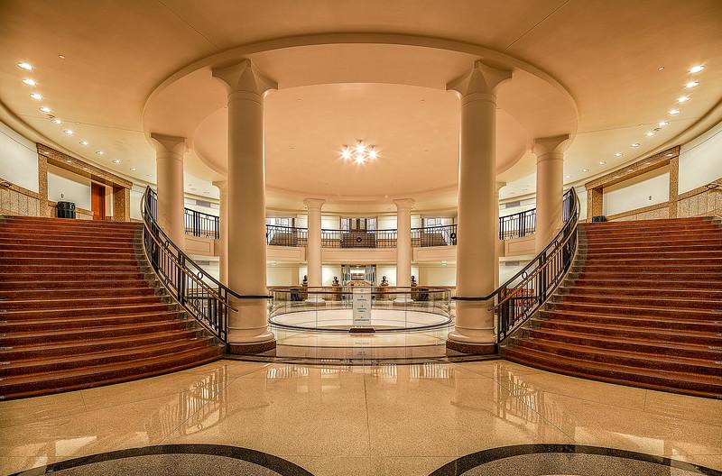 Interior Circular Stairway.