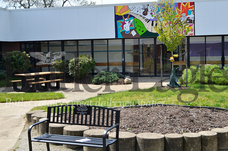 McQuistion Elementary's courtyard got a revamped look over summer break. Tanner Cole/Butler Eagle