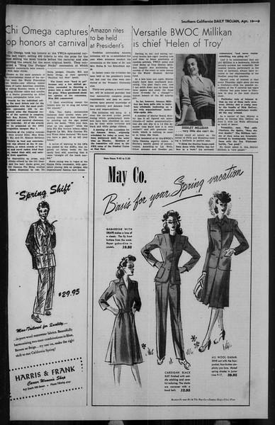 Daily Trojan, Vol. 34, No. 128, April 16, 1943